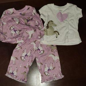 3 piece pajama set - 12 month
